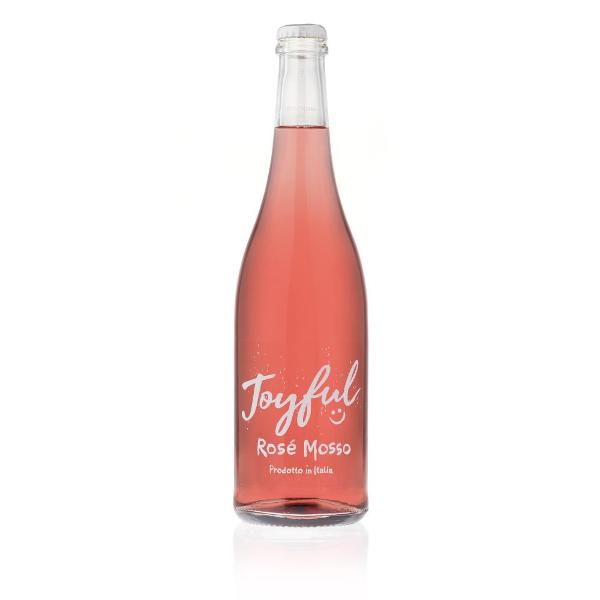 Vino Joyful Rosè - Vino Rosè Mosso - Vino da Aperitivo - Vino da Tavola